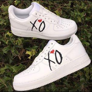 ⚡️Custom Nike Air Force 1 Shoes (The Weeknd)⚡️